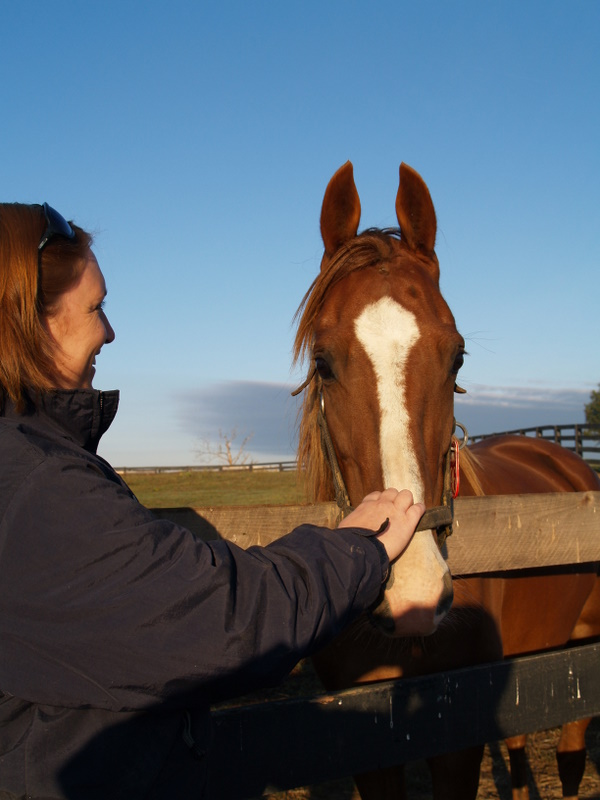 Cathie and horse
